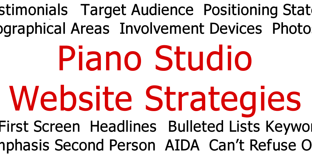 Piano Studio Website Strategies 3